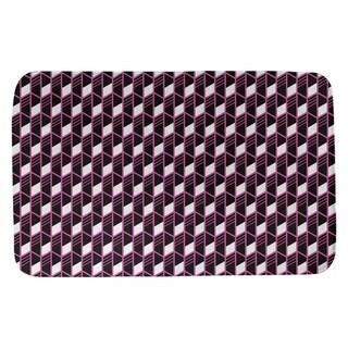 Classic Geometric Stripes Bath Mat (17 X 24 Pink)