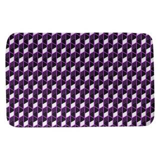 Classic Geometric Stripes Bath Mat (21 X 34 Violet)