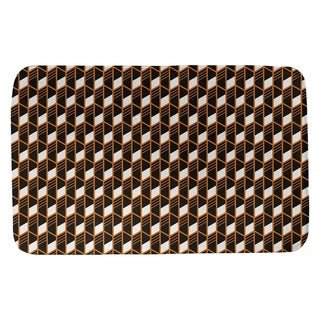 Classic Geometric Stripes Bath Mat (17 X 24 Orange)