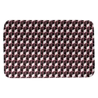 Classic Geometric Stripes Bath Mat (17 X 24 Coral)