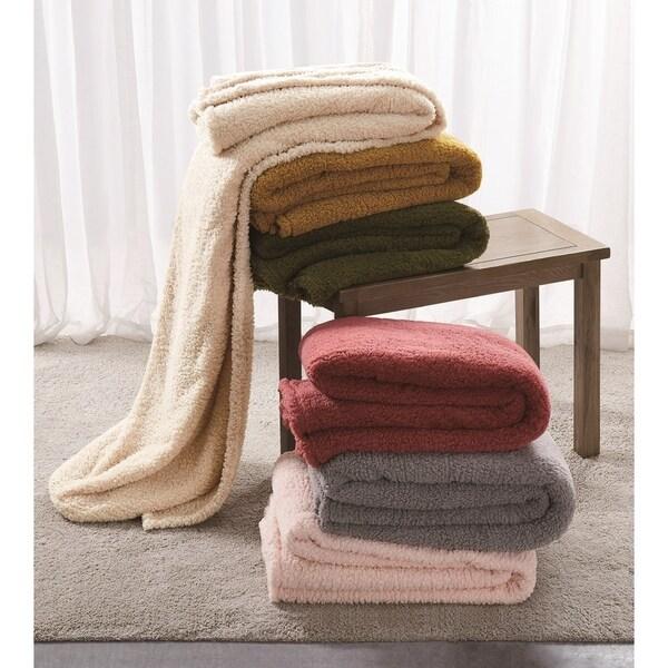 Shop Brooklyn Loom Marshmallow Sherpa Blanket - Free