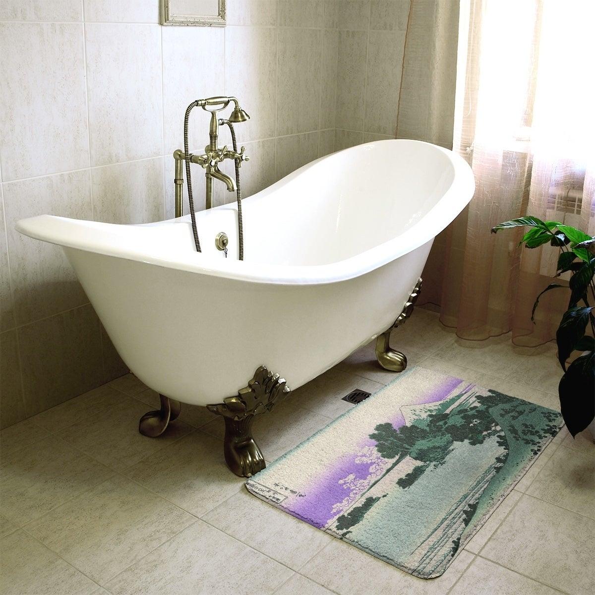 Shop Hokusai Shichiri Beach In Sagami Province Bath Mat Overstock 28425993