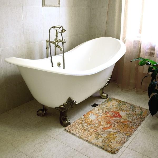 Mucha Woman With A Daisy Bath Mat