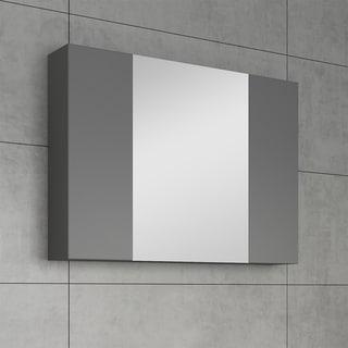 "Fresca 32"" Gray Medicine Cabinet w/ 3 Doors"