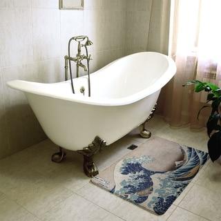 Hokusai The Great Wave Bath Mat