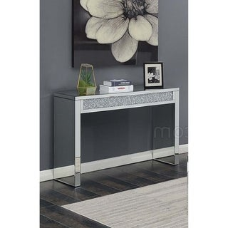 Cleveland Mirrored and Crystal-Encrusted Modern Entry Table