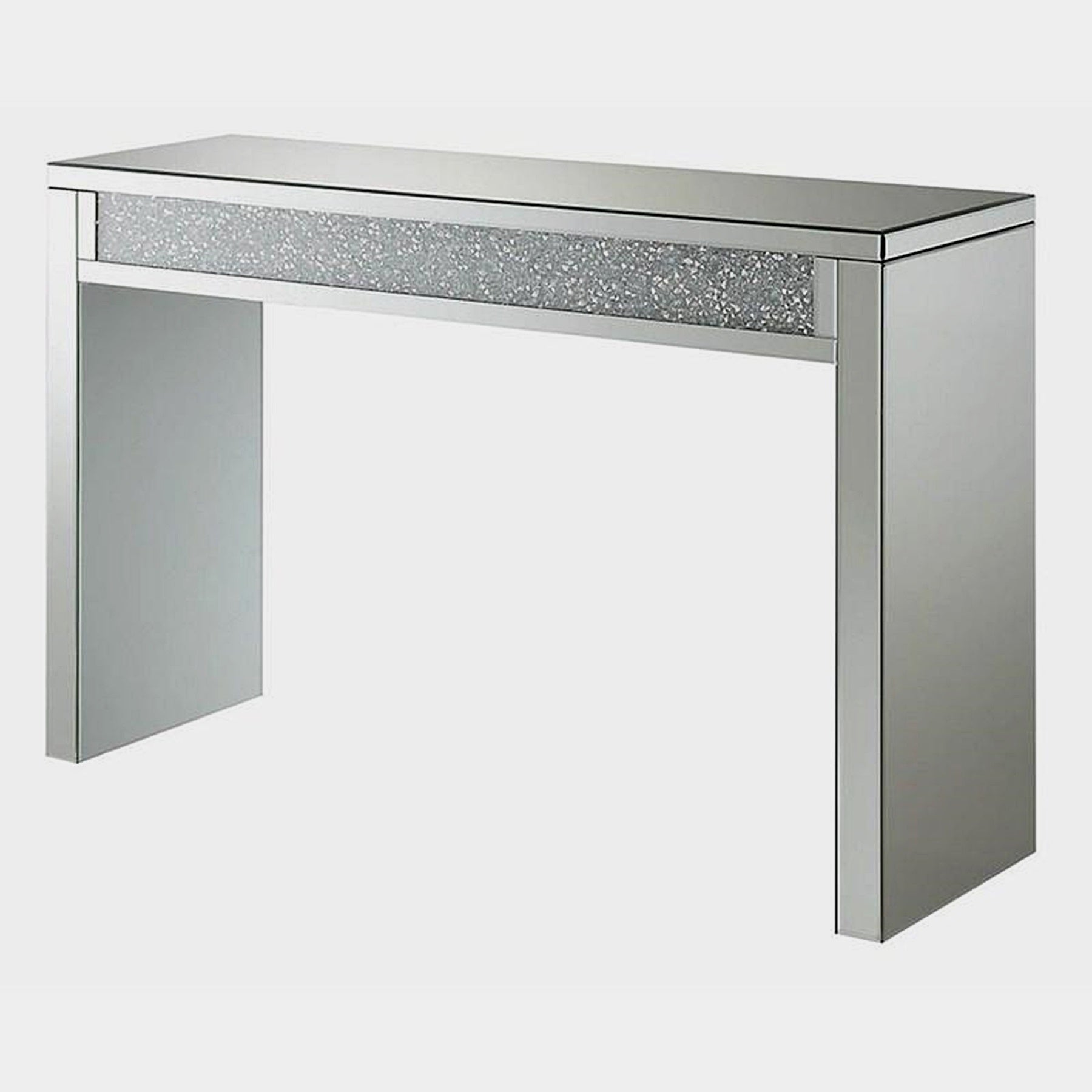 Cleveland Mirrored And Crystal Encrusted Modern Entry Table On Sale Overstock 28426148