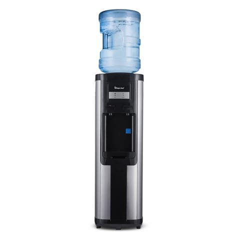 Magic Chef Water Dispenser Top Loading Hot/Cold Cooler Stainless Steel