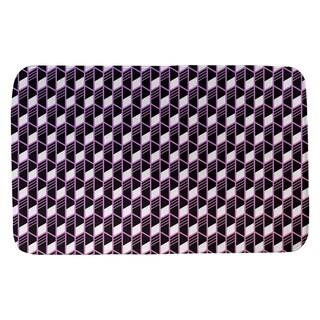 Ombre Geometric Stripes Bath Mat (21 X 34 Purple & Pink)