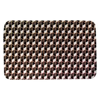 Ombre Geometric Stripes Bath Mat (21 X 34 Sunset Ombre)