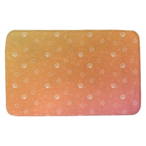Seashell Pattern Bath Mat