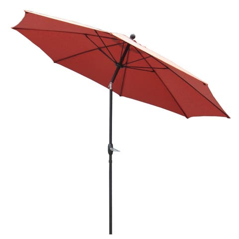 10' Auto Tilit Market Umbrella with Sunbrella Spectrum-Grenadine Fabric