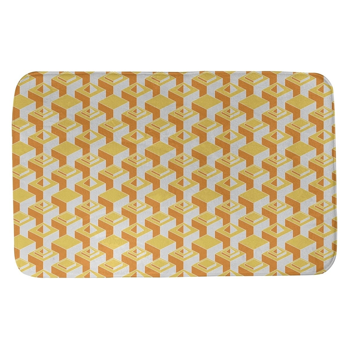 Two Color Light Skyscrapers Pattern Bath Mat Overstock 28426491