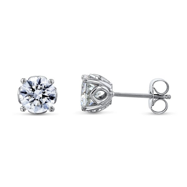 d9231d03c Shop Annello by Kobelli 14k White Gold Orchid 2ct TDW Natural Diamond Studs  14k White Gold - Free Shipping Today - Overstock - 28426526