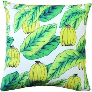 Pillow Decor -  Karalina Banana Jungle Throw Pillow 20x20