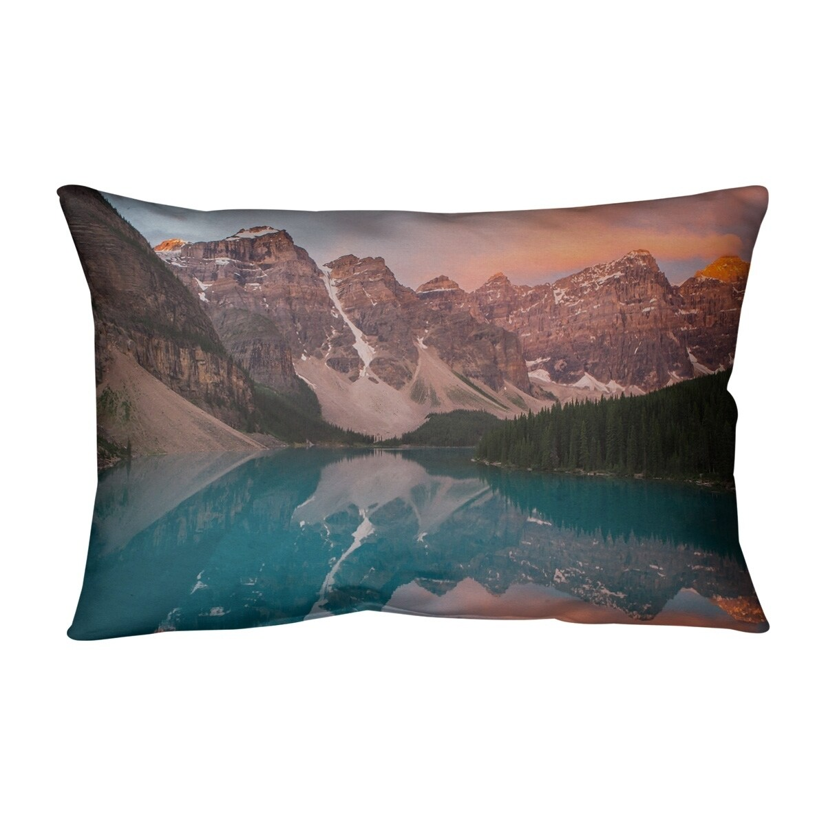 Valley And Mountains At Sunset Outdoor Lumbar Pillow On Sale Overstock 28426625