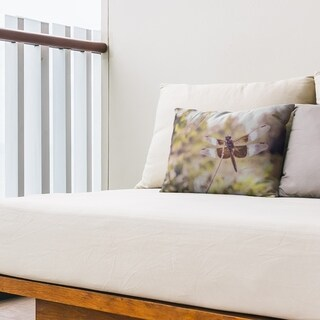 Rustic Dragonfly Outdoor Lumbar Pillow