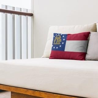 Georgia Flag Outdoor Lumbar Pillow On Sale Overstock 28426670