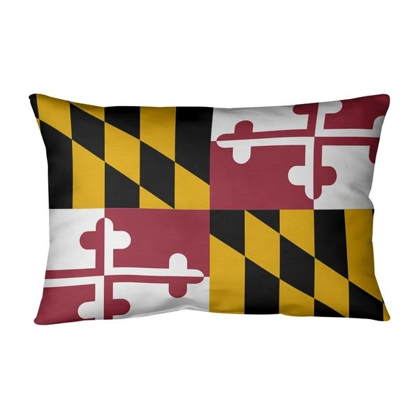 Maryland Flag Outdoor Lumbar Pillow On Sale Overstock 28426682