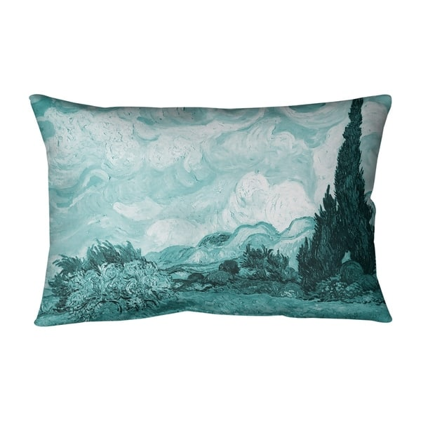 Shop Wheatfield With Cypresses Outdoor Lumbar Pillow Overstock 28426735