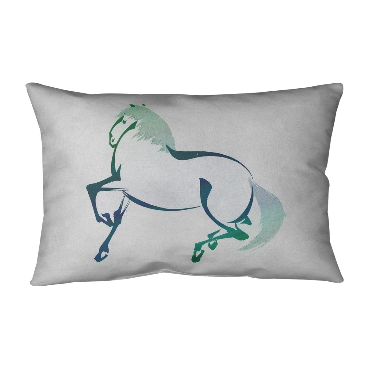 Japanese Vintage Watercolor Horse Outdoor Lumbar Pillow Overstock 28426813