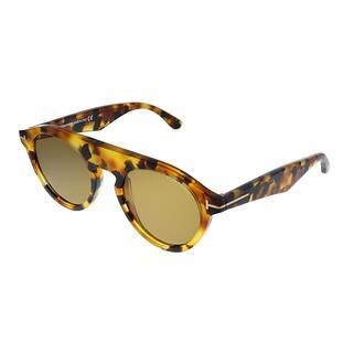 Tom Ford Christopher TF 633 55E Unisex Light Havana Frame Brown Lens Sunglasses