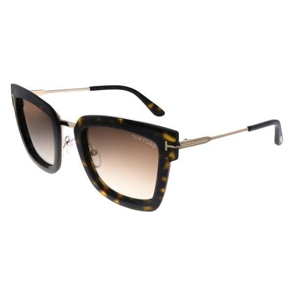 0fbb31cd4c66e Tom Ford Lara-02 TF 573 52F Womens Dark Havana Rose Gold Frame Brown  Gradient