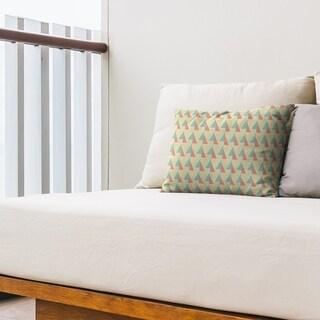Shifted Arrows Pattern Outdoor Lumbar Pillow