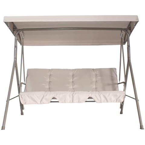 Havenside Home Santos 3-seater Adjustable Canopy Outdoor Patio Swing