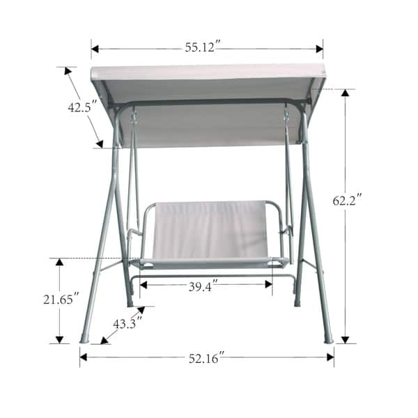 Tremendous Shop Havenside Home Santos Patio 2 Seater Outdoor Swing With Pabps2019 Chair Design Images Pabps2019Com