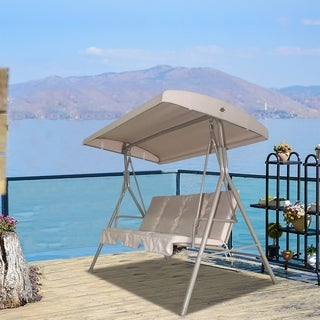 Havenside Home Santos Patio 2-seater Outdoor Swing with canopy and Stand