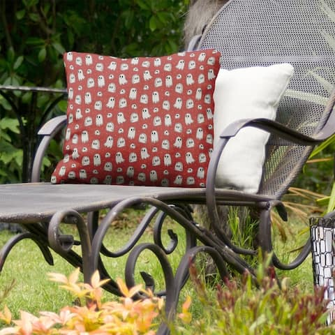 Classic Ghosts Pattern Indoor/Outdoor Pillow
