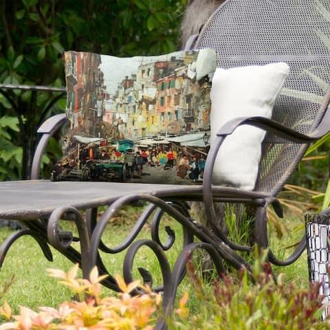 Market in Naples Indoor/Outdoor Pillow
