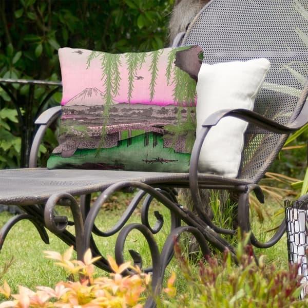 Yatsumi Bridge Indoor Outdoor Pillow Overstock 28429755