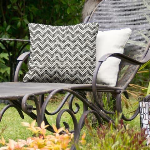 Reverse Classic Hand Drawn Chevrons Indoor/Outdoor Pillow