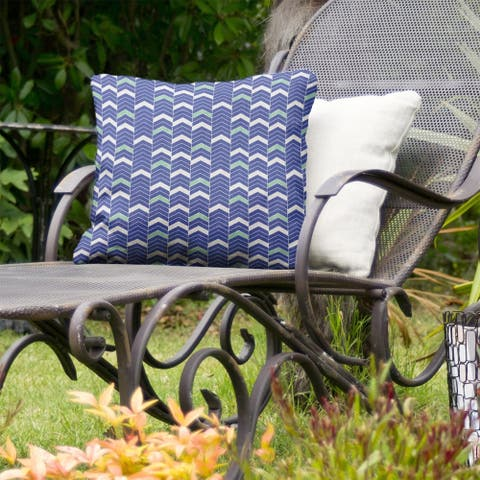 Two Color Lined Chevrons Indoor/Outdoor Pillow