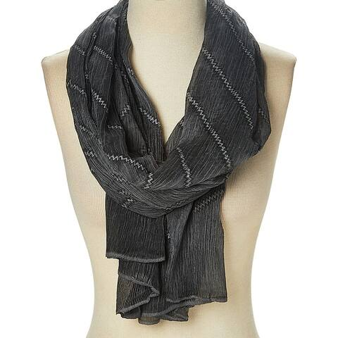 Polyester Zigzag Fashion Sheer Scarves Cozy Scarfs Shawl Wrap for Woman - Large