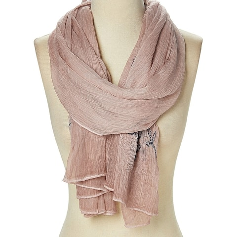 Women's Scarves Soft Polyester Floral Casual Fashion Long Scarf Shawl Wrap - Large