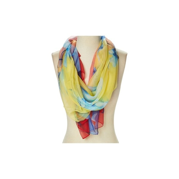 Scarf Spring Shawl New Summer Scarf Border Floral Ethnic Print Scarf With Fringe