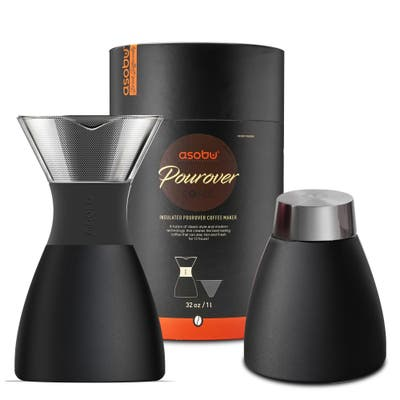 Asobu Insulated Pour Over Coffee Maker (32 oz.) in Black