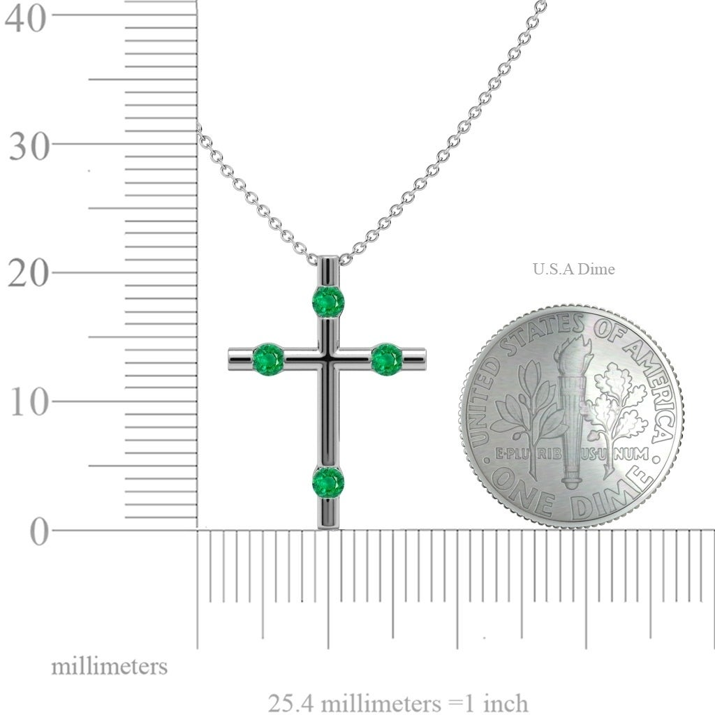0.12CTW DIAMOND CROSS PENDANT