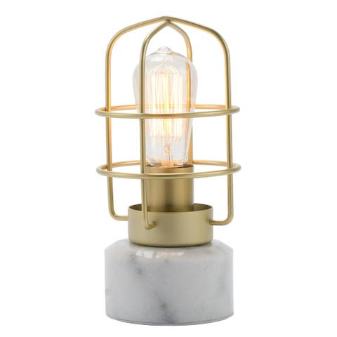 CO-Z 10-Inch Industrial Table Lamp with Marble Base