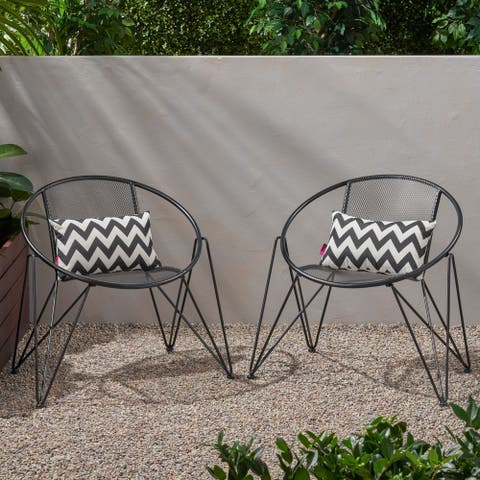 Georgia Modern Outdoor Club Chairs (Set of 2) by Christopher Knight Home