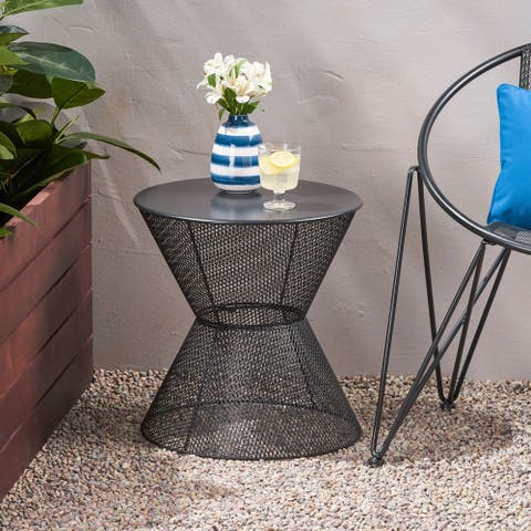 Nevada Modern Outdoor Side Table by Christopher Knight Home