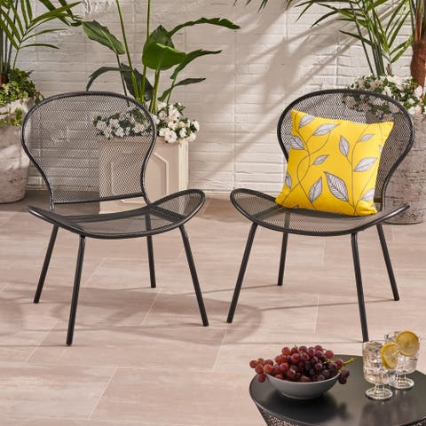 Nevada Modern Outdoor Club Chairs (Set of 2) by Christopher Knight Home