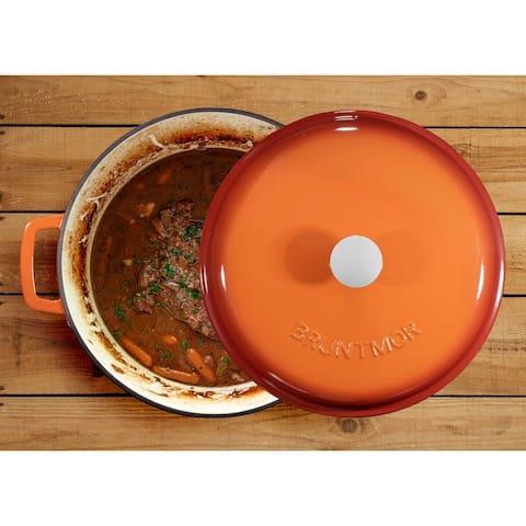Enameled Cast Iron Casserole Dish Dutch Oven - 4.5 Quart
