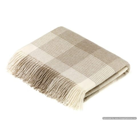 Bronte Moon - Blanket Check Beige Throw