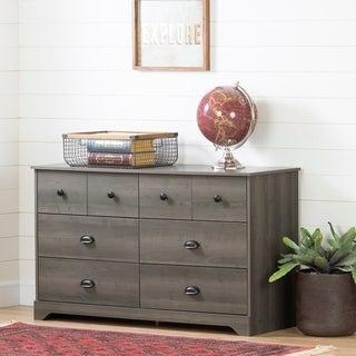 South Shore Volken 6-Drawer Double Dresser, Gray Maple