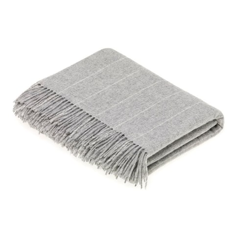 Bronte Moon - Pinstripe Throw Gray