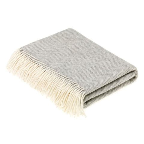 Bronte Moon - Herringbone Throw Gray